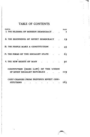 The New Soviet Constitution PDF