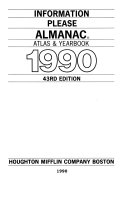 Information Please Almanac Atlas And Yearbook 1990 Book PDF