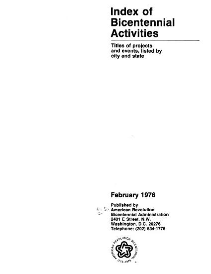 Index of Bicentennial Activities PDF