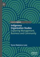 Indigenous Organization Studies PDF