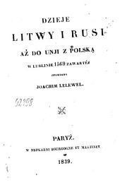 Dzieje Litwy i Rusi aż do unji z Polską w Lublinie 1569 zawartej