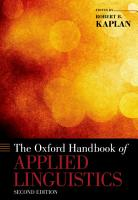 The Oxford Handbook of Applied Linguistics PDF