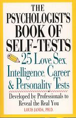 The Psychologist's Book of Self-tests