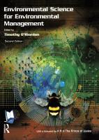 Environmental Science for Environmental Management PDF