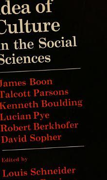 The Idea of Culture in the Social Sciences PDF
