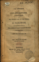 The Dissension of Paul and Barnabas  a Word in Season to the Church and to the World  a Sermon  the Substance of which was Preached in the Parish Church of Dirleton  on     February 3  1828 PDF