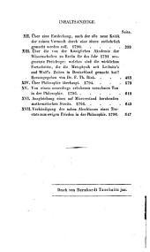 Immanuel Kant's sämmtliche Werke: T. Kleine logisch-metaphysische Schriften
