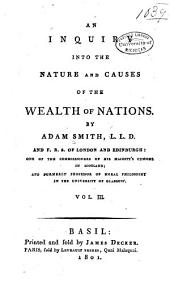 An Inquiry Into the Nature and Causes of the Wealth of Nations: Volume 3