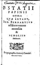 P. Statii Papinii Opera Qvae Extant