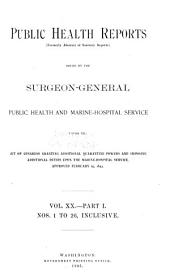 Public Health Reports: Volume 20, Issues 1-26