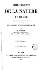 Philosophie de la nature de Hegel: Volume1