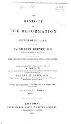 The History Of The Reformation Of The Church Of England Book PDF