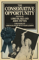 The Conservative Opportunity