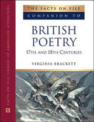 The Facts on File Companion to British Poetry PDF