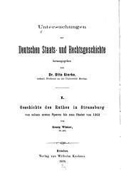 Geschichte des Rathes in Strassburg von seinen ersten Spuren bis zum Statut von 1263