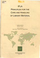 IFLA Principles for the Care and Handling of Library Material PDF