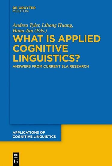 What is Applied Cognitive Linguistics  PDF