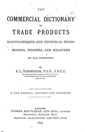 The Commercial Dictionary of Trade Products PDF