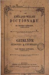 An English-Welsh dictionary