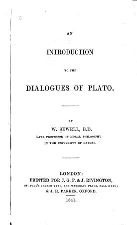 An Introduction to the Dialogues of Plato PDF