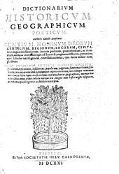 Dictionarium historicum, gheographicum, poeticum