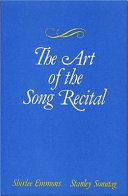 The Art Of The Song Recital Book PDF