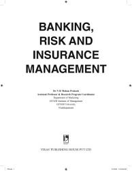 Banking  Risk and Insurance Management PDF