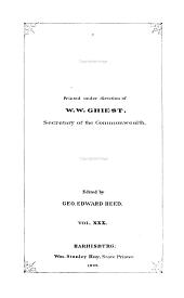 Pennsylvania Archives ...: Volume 30