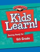 Kids Learn  Getting Ready for 6th Grade PDF