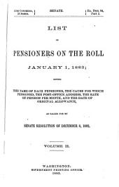 Senate Documents, Otherwise Publ. as Public Documents and Executive Documents: 14th Congress, 1st Session-48th Congress, 2nd Session and Special Session, Volume 5, Part 2