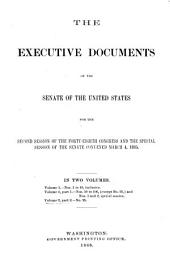 Senate Documents, Otherwise Publ. as Public Documents and Executive Documents: 14th Congress, 1st Session-48th Congress, 2nd Session and Special Session, Volume 2, Part 2