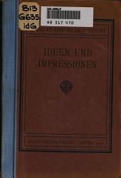 Ideen und Impressionen