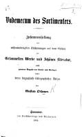 Vademecum des Sortimenters  Zusammenstellung der wissensw  rdigsten Erscheinungen auf dem Gebiete der Gesammelten Werke und Sch  nen Literatur  etc PDF