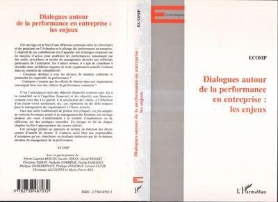 DIALOGUE AUTOUR DE LA PERFORMANCE EN ENTREPRISE   LES ENJEUX PDF