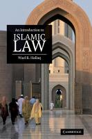 An Introduction to Islamic Law PDF