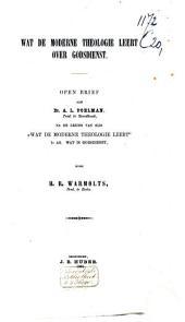 Wat de moderne theologie leert over godsdienst: open brief aan Dr. A. L. Poelman