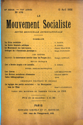 Le mouvement socialiste: revue de critique sociale, littéraire et artistique