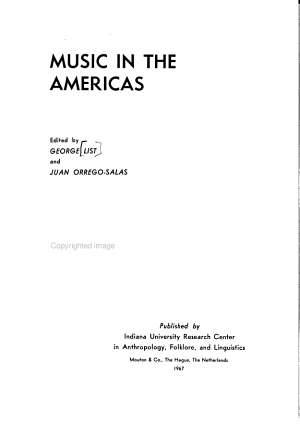 Music in the Americas