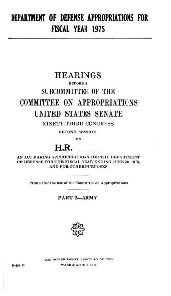 Department of Defense Appropriations PDF