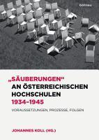 S  uberungen  an   sterreichischen Hochschulen 1934   1945 PDF