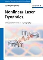 Nonlinear Laser Dynamics PDF