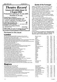 Theatre Record PDF