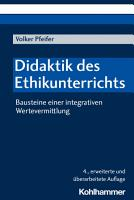 Didaktik des Ethikunterrichts PDF