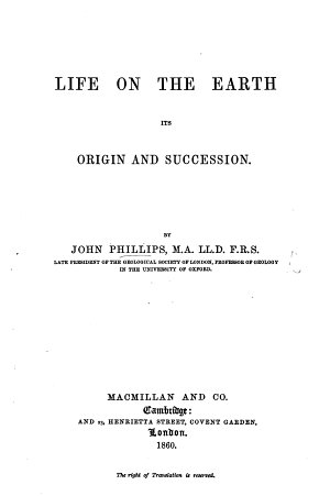 Life on the Earth  its origin and succession