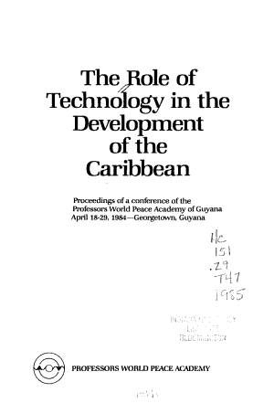 The Role of Technology in the Development of the Caribbean