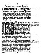 Gemaal ten platten lande. Ordonnantie, volgende dewelcke [...] in [...] Hollandt en Westvrieslandt [...] den impost van het gemaal [...] geheeven [...] sal werden. Innegaande den eersten augusty 1747