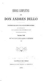 Obras completas de don Andrés Bello: Volumen 8