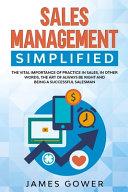 Sales Management Simplified PDF
