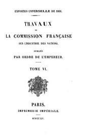 Travaux de la commission française sur l'industrie des nations: Volume6