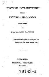 Fontane intermittenti della provincia Bergamasca